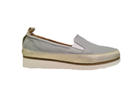HB Grey Moccasin With A slight Wedge
